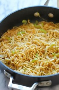 Panda Express Chow Mein Copycat - Tastes similar to Panda Express except it requires just minutes to whip up and tastes a million times better!