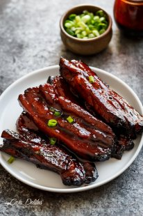 Sticky Chinese Barbecue Pork Belly Ribs (Char Siu) |